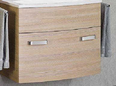 LANZET 7230512 S2 Waschtischunterschrank:, 80x63x45cm, Pinie/Pinie, 1 Schublade