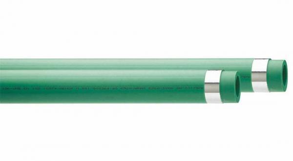 PPR Rohr Aqua-Plus Alu verstärkt d = 25x3,5 mm in Stange 1,95 m