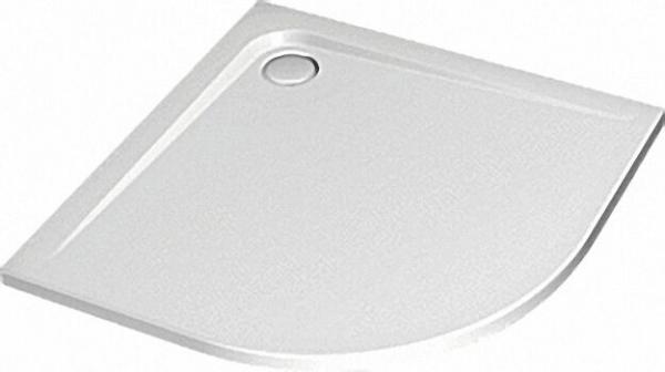 Viertelkreis-Brausewanne ULiter Flat, 900 x 900 x 47mm Radius 550mm, weiß