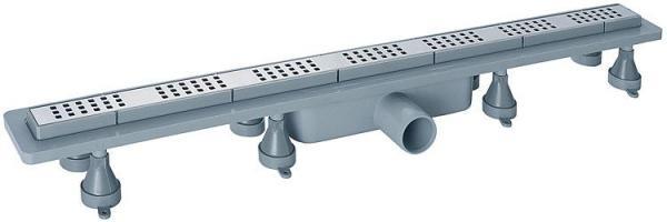 Duschrinne Basicflow Squares aus ABS, Einbauhöhe ab 70 mm