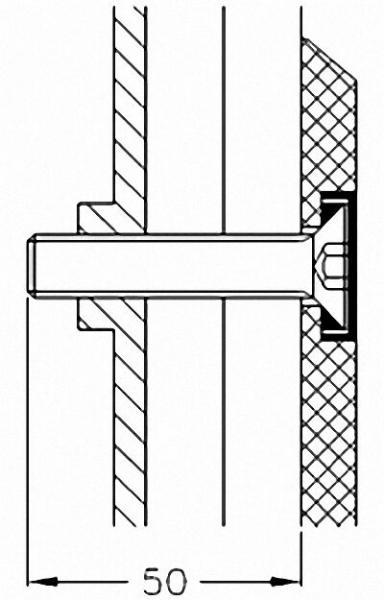 Montageset für Stützgriff und Duschklappsitze der Serie Cavere an Leichtbauwänden, 4 Schrauben 10x60