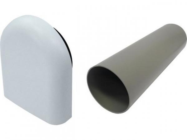 Buderus LR160, Lüfter-Rohbauset, weiße Kunststoffaußenhaube, 7735600371