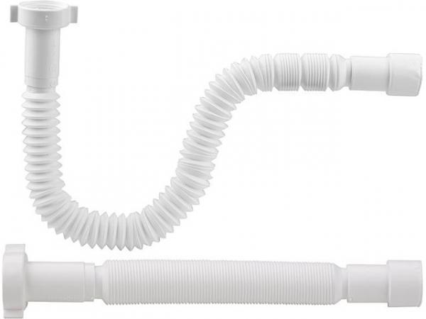 """Flexibler Anschluss-Schlauch 1 1/2""""x40/50mm, gerade, Länge 383-870mm"""