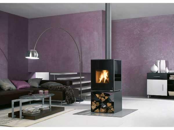 Buderus 7736660086 Kaminofen Hot Box 2000, 7 kW, Stahl metallic, Glas nouga, X-Konsole, rlu
