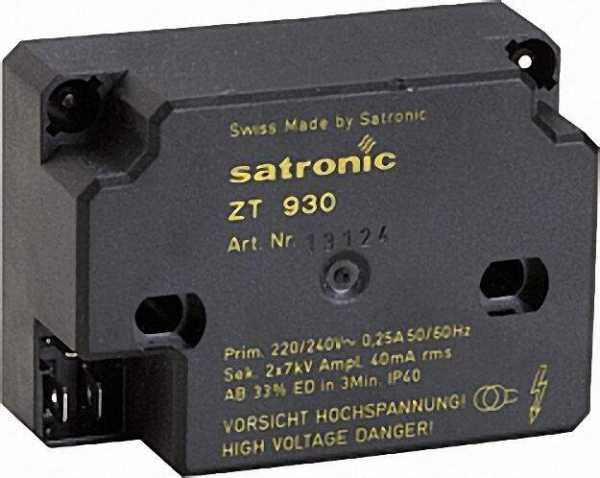 HONEYWELL 13124 Hochfrequenzzündeinrichtung ZT 930 Satronic sek. Anschluss !! ohne Kabel !! 4mm