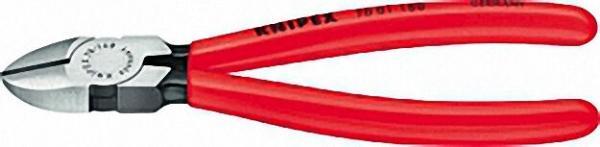 Seitenschneider poliert Kunststoff überzogen Länge 125mm mit Facette