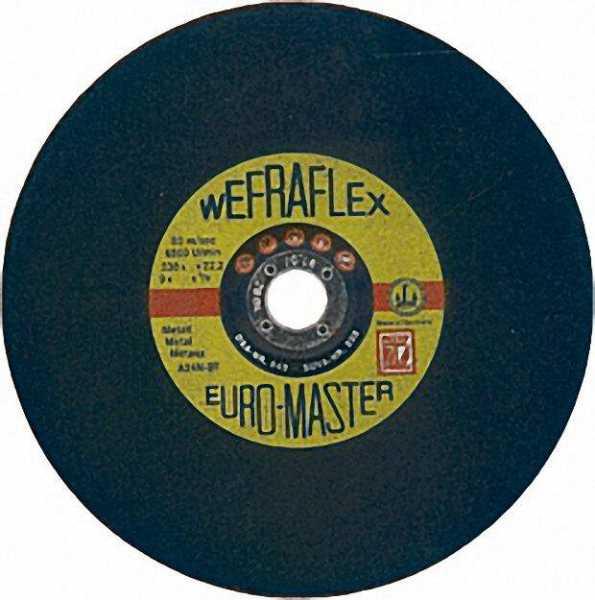 Schruppscheibe Euromaster für Metall 230 x 8 x 22mm