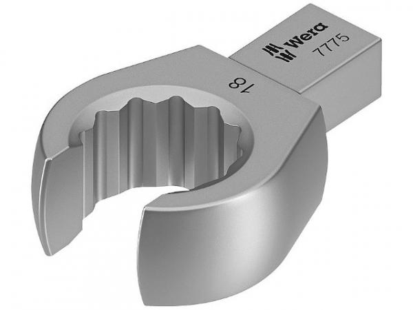 Einsteck-Ringschlüssel offen WERA Vierkant 9x12mm, Form B SW 19