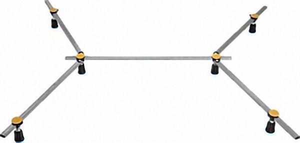 Duschwannenfuß R6 SGS XXL für Stahl und Arcrylduschwannen von 75x75cm - 120x120cm