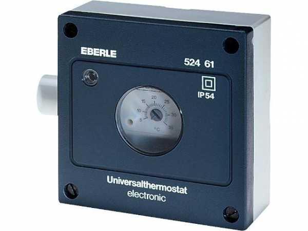 EBERLE Feuchtraum-Temperaturregler Typ AZT-I 5254 510 5 . . . 35°C mit Innenskala