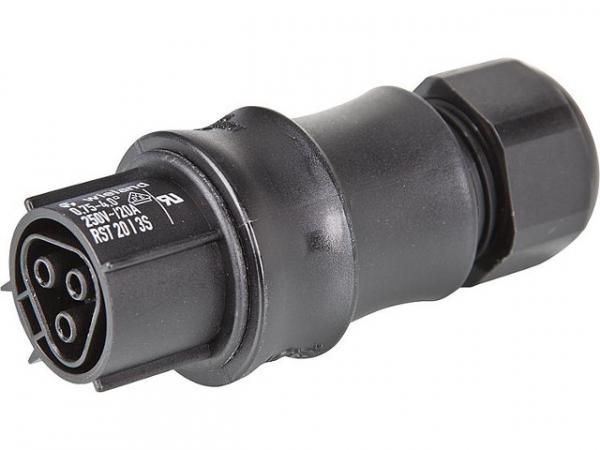 Buchse Wieland RST20i3, 6-10mm 3-polig, 250 V / 20 A mit Schraubanschluss