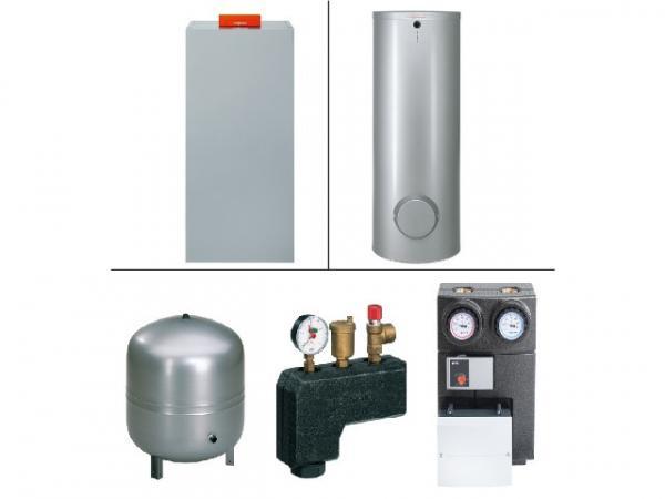 VIESSMANN Paket Vitocrossal 300 CU3A 26 kW Gas-Kessel, Vitocell 100-V CVA 160 L, m. Mischer