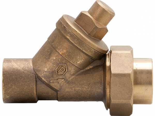 Schrägsitz-Rückschlagventil mit Lötanschluss 22 mm