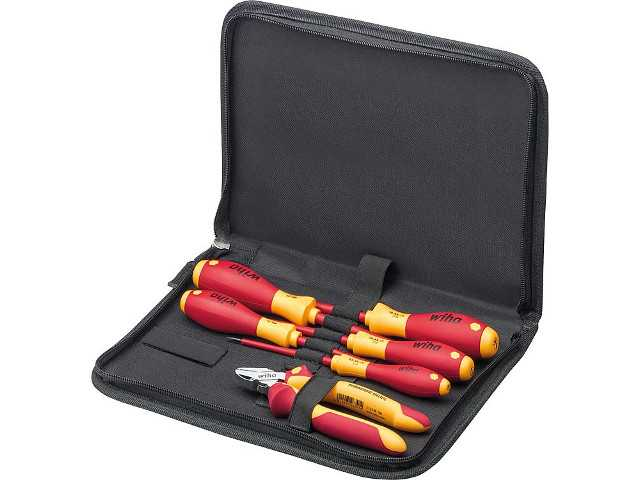 Werkzeugsatz WIHA Elektriker 6-teilig im Softbag
