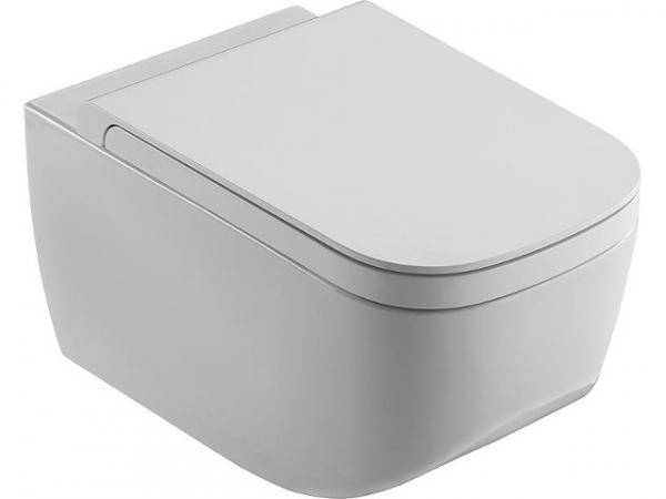 Wand-Tiefspül-WC NEXT 560x360mm, aus Keramik spülrandlos, weiß