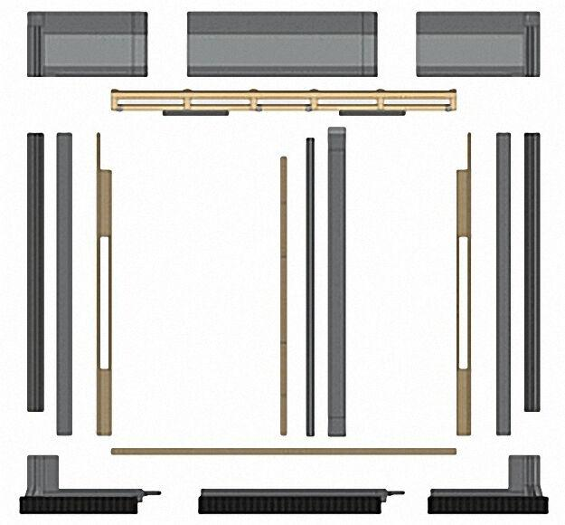 indach erweiterungssatz fuer 1 sx 251 kollektor. Black Bedroom Furniture Sets. Home Design Ideas