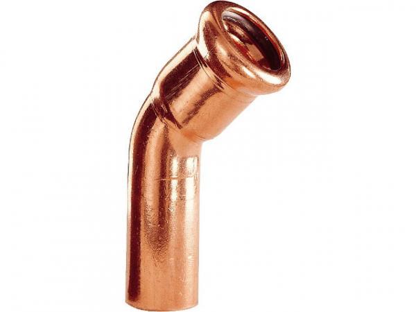 Kupfer Pressfitting Bogen 45° i/a D: 22mm Typ 7040