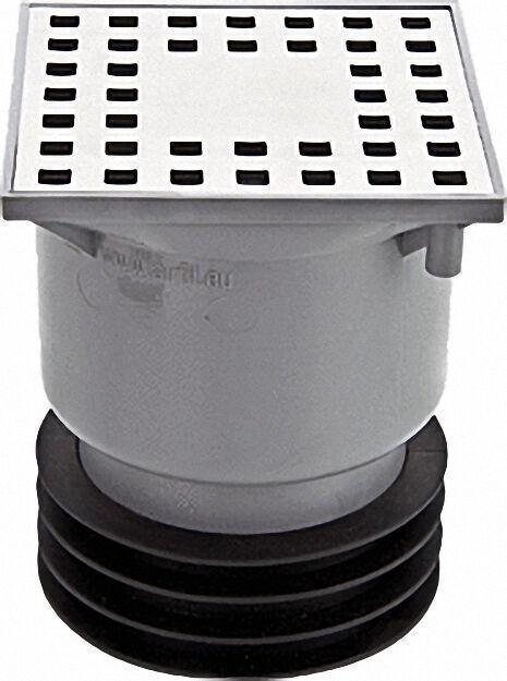 Bodenablauf, Profinn Höhenverstellbar und drehbar Muffe DN110 -