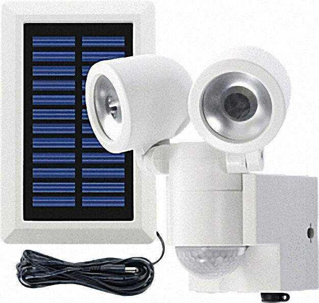 Außenleuchte Solar LED mit Bewegungsmelder 360° Duo LPL, weiß