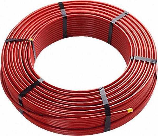 Polybuten-Rohr rot 12 x 1, 3 dreifach coestrudiertes, sauerstoff dichtes Polybutenrohr, Rolle mit 20