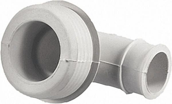 Gummi-Winkel-Spülrohrverbinder hell/ für Euro-WC D 55mm Druckspülrohr D 28/32mm