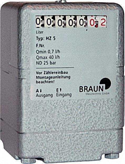Ölzähler HZ 5 0, 7-40 l/h