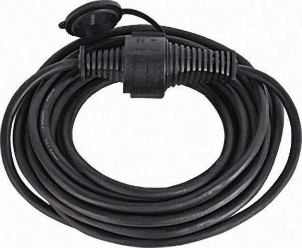 Verlängerungsleitung Typ Qualitäts- Gummikabel IP44 Kabellänge=10m Farbe Schwarz