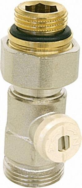 CALEFFI Einzelkugelhahn Durchgangsventil 1/2''AG Rohranschluss 3/4''