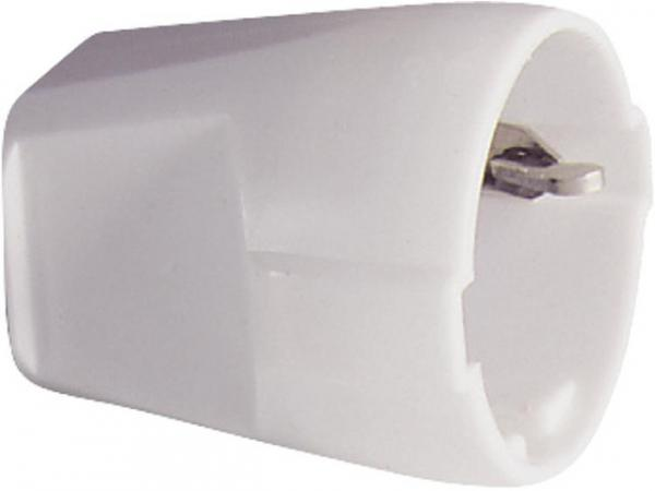 Schutzkontakt-Kupplung 2-polig - schwarz 16A - 250V