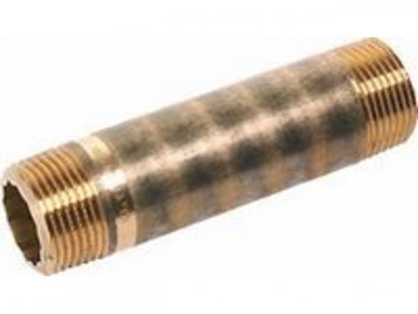 Langnippel Rotguss, Nr.3530, AG/AG 1/2x100 Kupferrohre Schraubfittings