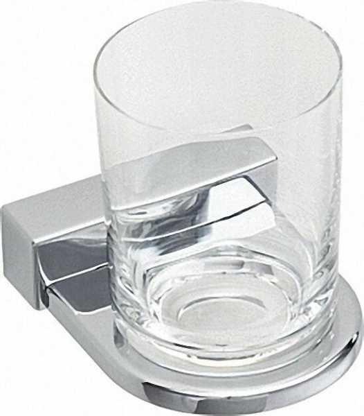 Glashalter Iris² mit Bleikristallglas verchromt