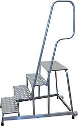 Mobiler Alu-Montagetritt Arbeitshöhe 3,00 Plattform 1,00 5 Stufen