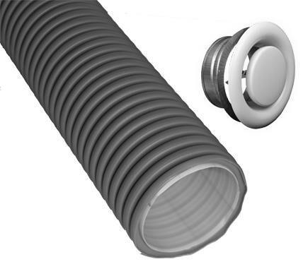 DIMPLEX 360380 KFPA210N Paket Kunststoff-Flex zentrale Abluft