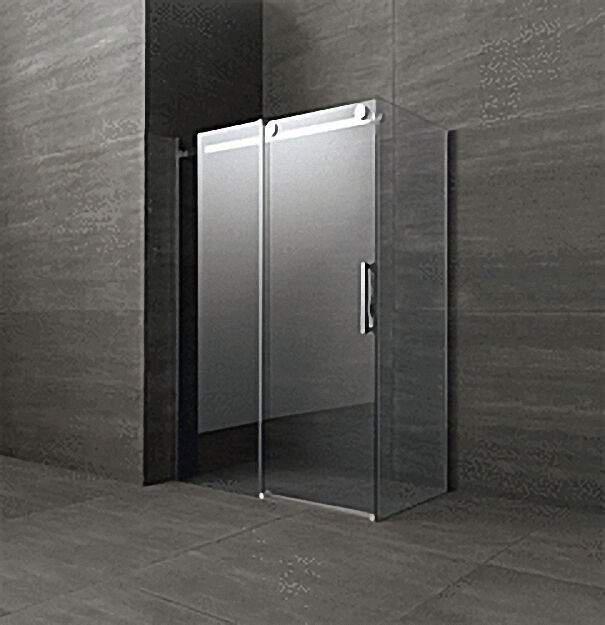 Duschkabine mit Seitenteil, Tür+Seitenteil links, Fixteil rechts, 1200