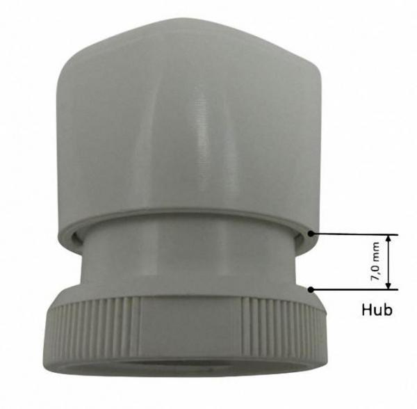 Handregulierkappe M 30 x1,5 Heimeier kompatibel (weiß)