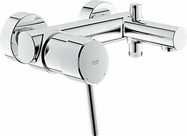 GROHE EH-Wannenbatterie 'Concetto' DN 15, Wandmontage Chrom