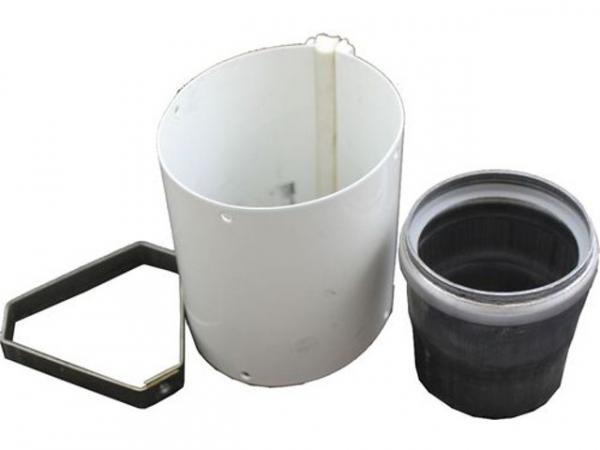 WOLF 2600133 Ausgleichsmuffe für Luft-/Abgasrohr D 96/63 -Revisionsstück, weißLänge 75 mm
