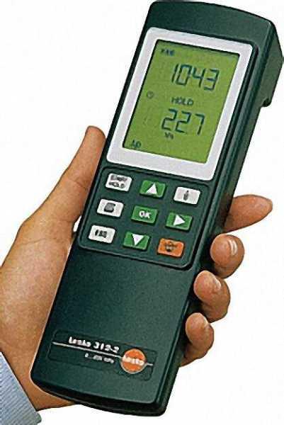 TESTO 0632 0314 /312 3 robustes Druckmessgerät bis 300/6000 hPa