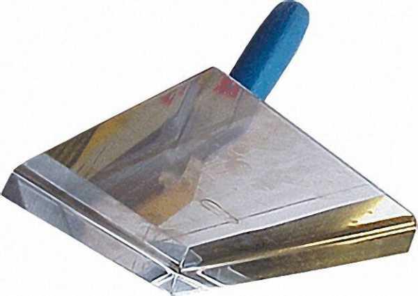 Putz- und Fugenplatte rechts rostfrei blaues Heft