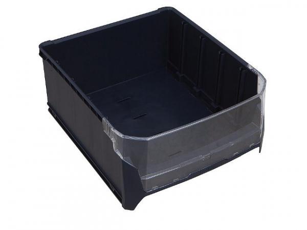 Kunststoffbox S-BOXX G mit Sichtfenster dunkelgrau 351x300x153mm