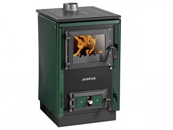 JUSTUS Festbrennstoffherd Rustico-50 2.0, grün