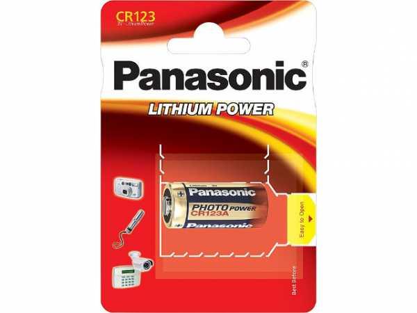 PANASONIC Fotobatterie Lithium CR-123AEP 3V Dm 17x35mm