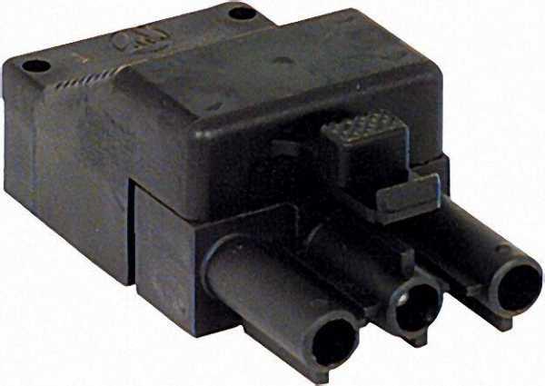Stecker 3-polig / schwarz 250 V/16 A System Wieland