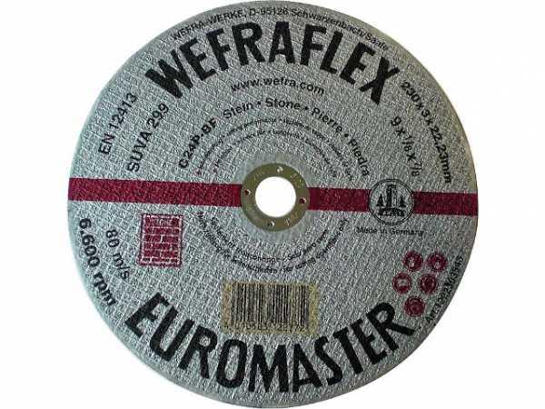 Trennscheibe Euromaster silber gerade für Stein 230x3x22mm