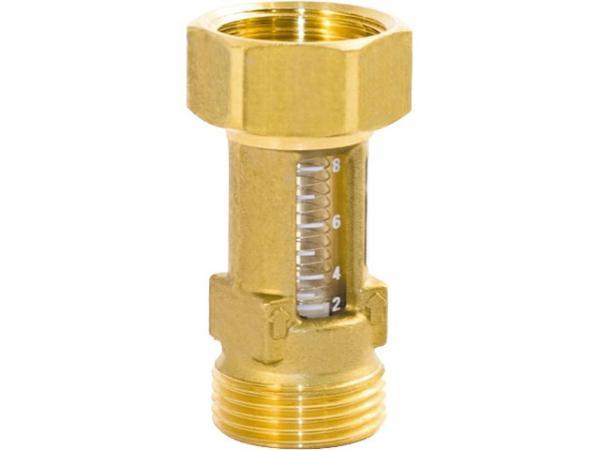 Durchflussmesser Tacocontrol Flowmeter DN 15, 3/4'x3/4' 2 - 8l/min, Kvs: 1,6