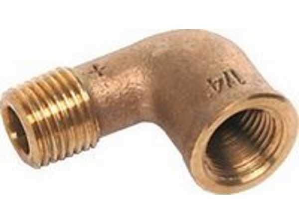 Winkel Rotguss, Nr.3092, 90 Grad, IG/AG 3/4 Kupferrohre Schraubfittings