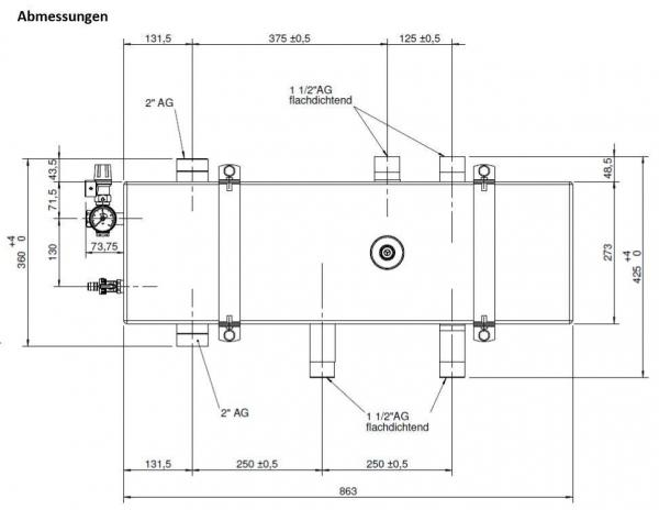 DIMPLEX 367720 DDV40 Doppelt Differenzdruckloser Verteiler