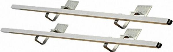 SUNEX Aufdachmontageset Standard für Dachneigung ab 25° - Grundbausatz für 2 Röhren-Kollektoren