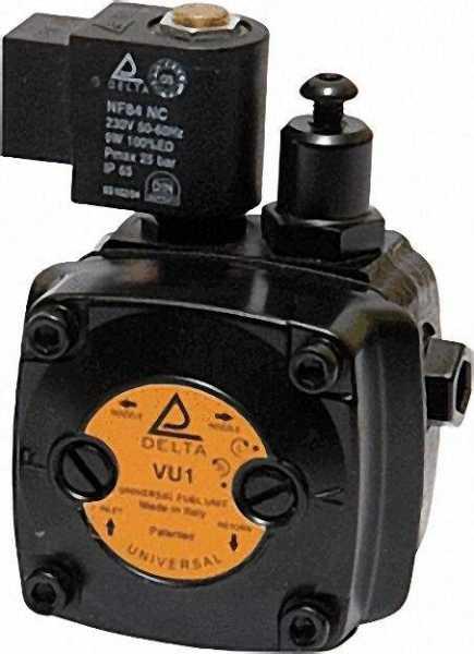 Delta - Servicebrennerpumpe Typ VU1 6-18 bar rechts und linksdrehend