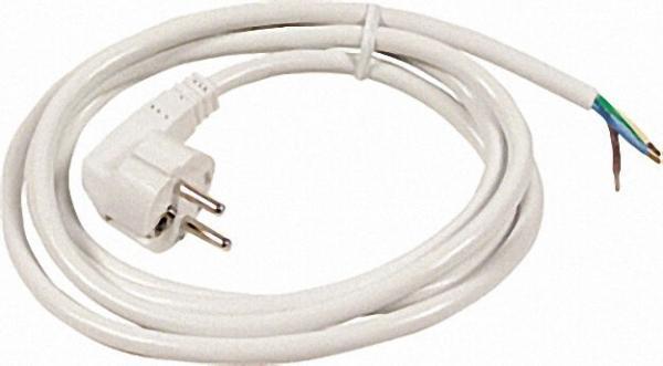 Schutzkontakt-Anschlussleitung HO5VV-F 3 x 1, 5 weiß 3,0m
